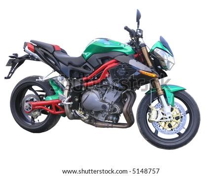 A Green Benelli Motorbike