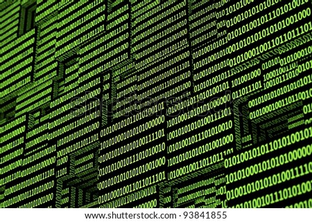 a green binary codes background