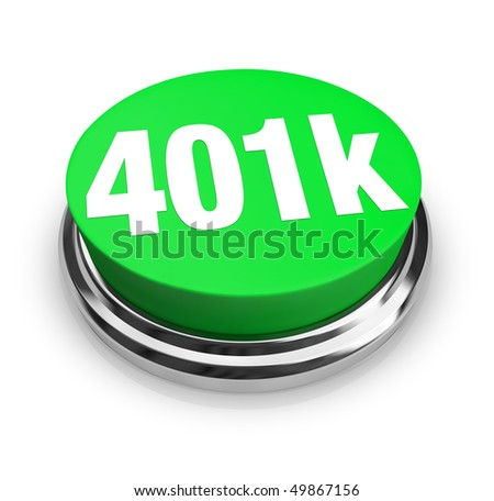 A green button with the word 401k on it