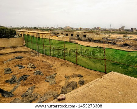 A Green Net Boundary with bamboo #1455273308