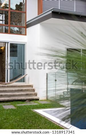 A greeny house entrance