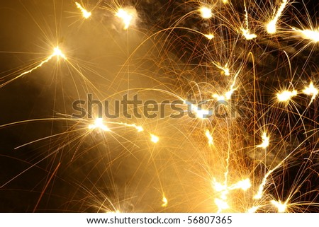 a ground style firework display for use as a background with room for your text