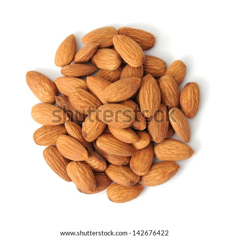 a group of almond on white background #142676422