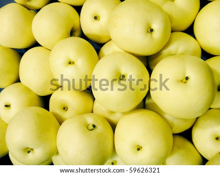 a group of asian pear