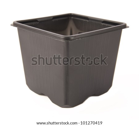 A group of decorative flower pots isolated on a white background