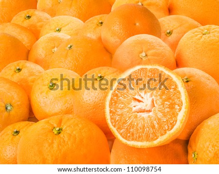 A group of oranges.