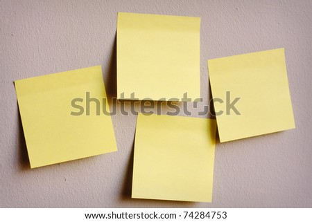 A group of post-it notes on the wall
