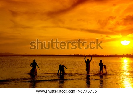 a group of traditional fisherman