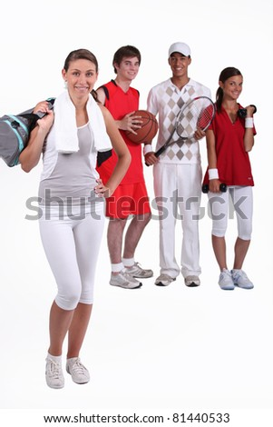 A group of young athletes