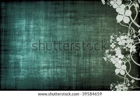 A Grunge Parchment Floral as Abstract Background