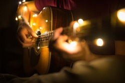 a guitarist that plays guitar with lights