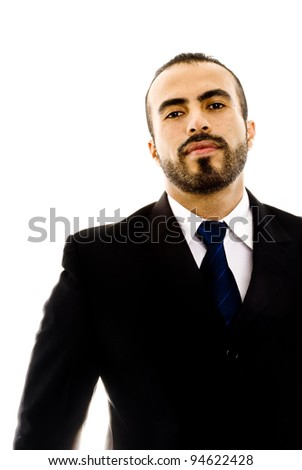 A guy in a suit looking tough