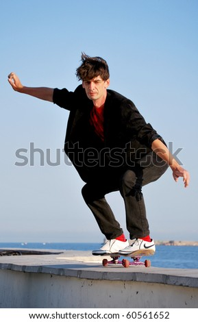 A guy on a skateboard