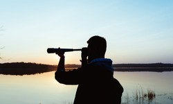 A guy with a telescope for nature...