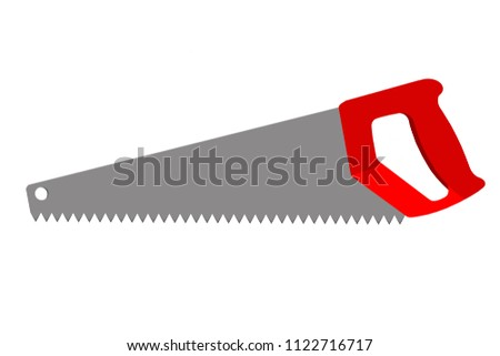 A hacksaw on a white background