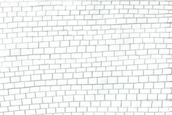 A hand-drawn brick wall. An uneven, sloppy, carelessly drawn brick wall.