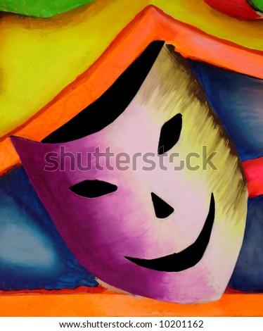 carnival brazil mask. hand painted carnival mask