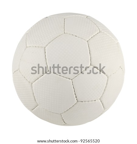 a handball in front of white background