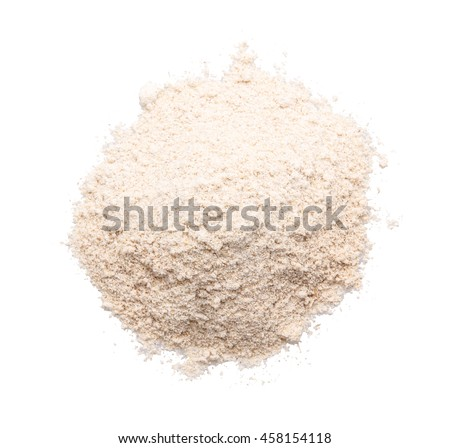 a handful of flour isolated on white background clipping path #458154118