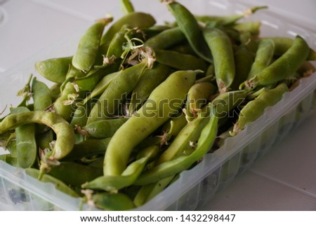 A handful of peas and broad beans