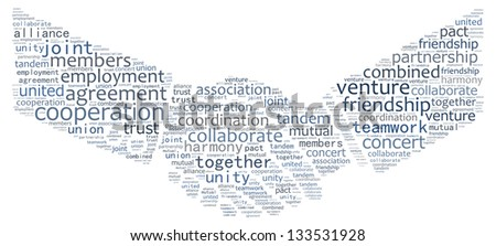 A handshake in text graphics
