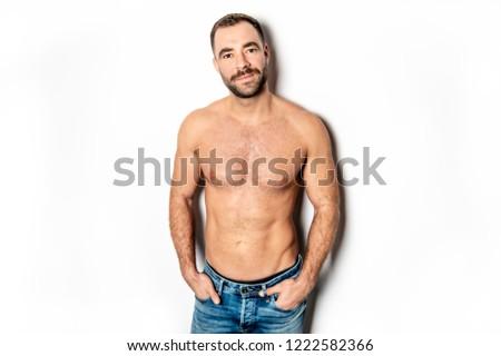 A Handsome nice gay young man torso