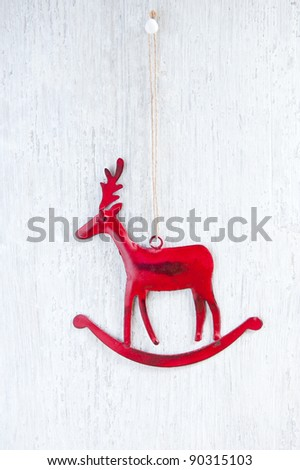 A Hanging Christmas Decoration, of a Red Deer