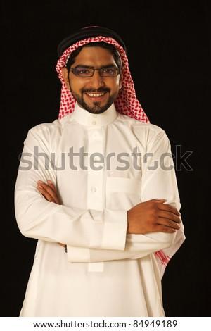 A happy male arab model.