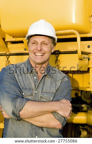 A happy smiling builder.