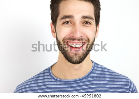 A Happy Young Man looking at the camera