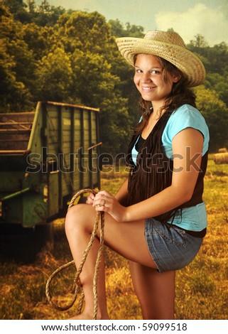 self shot teen cowgirl