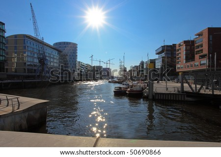 "A harbor of Hamburg called ""Sandtorhafen"""