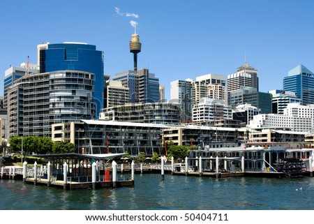 A harbour scene, Darling Harbour, Sydney, New South Wales, Australia