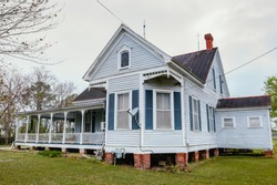 A haunted victorian style home built over 100 years ago located in the small town of Delcambre, Louisiana. Haunted house.