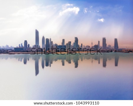 A hazy and dusty morning in Kuwait City