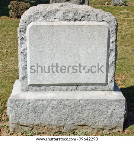 A headstone in a cemetery in New Jersey