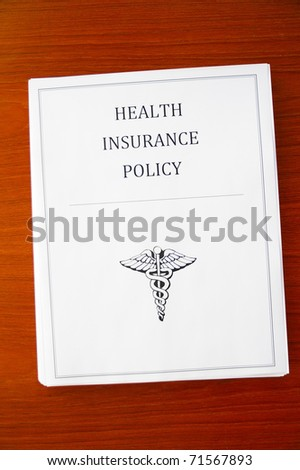 a health insurance policy, from above