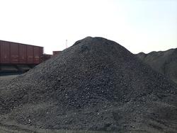 A heap of coal in a coal yard