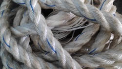 A heap of Dirty white rope texture