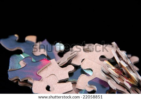 A heap of jigsaw pieces ready to be put together