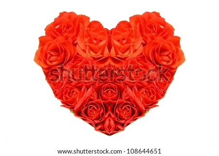 A heart of red roses