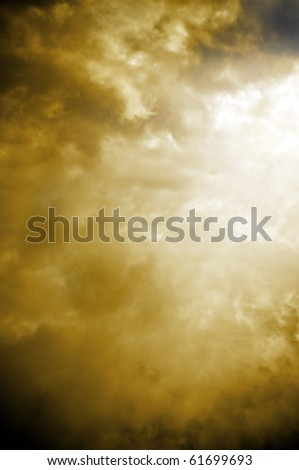 a heavenly sky with clouds and light
