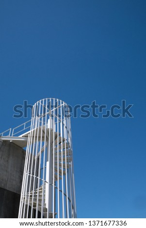 A helix staircase and the sky #1371677336