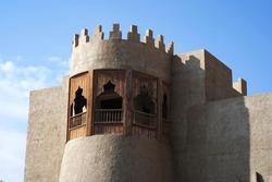 A Heritage building in an old town in the Eastern Province of Saudi Arabia (Al Ahsa, Al Hofuf). Al Qaisariah area