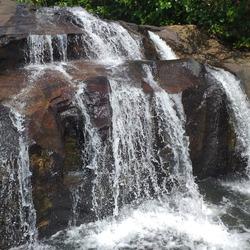 A hidden waterfall in Deraniygala, Srilanka