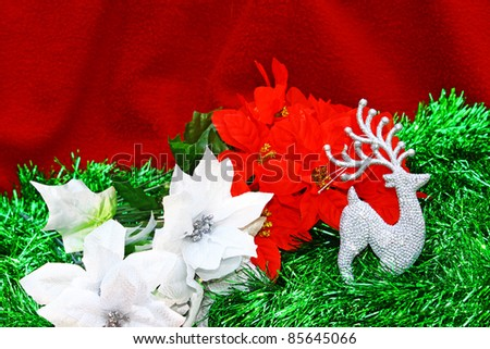 A high contrast seasonal holiday Christmas decoration with room for your text.