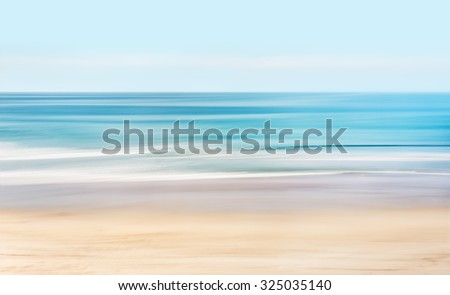 A high-key, abstract seascape of the Pacific ocean off the coast of California. #325035140