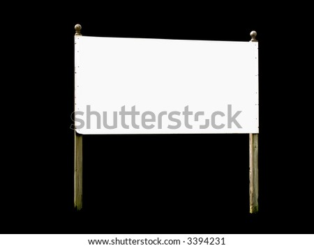 A high quality isolated metal rectangle sign close up image