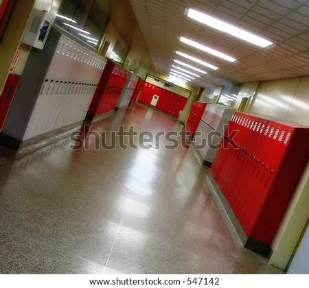 A high school hallway