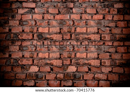 a hiht resolution vintage brick wall as a background or texture #70415776